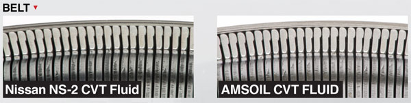 AMSOIL Synthetic CVT is cleaner